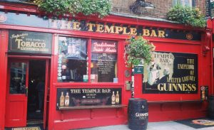 Temple bar, located in Dublin's cultural quarter is a hotspot for tourist attractions